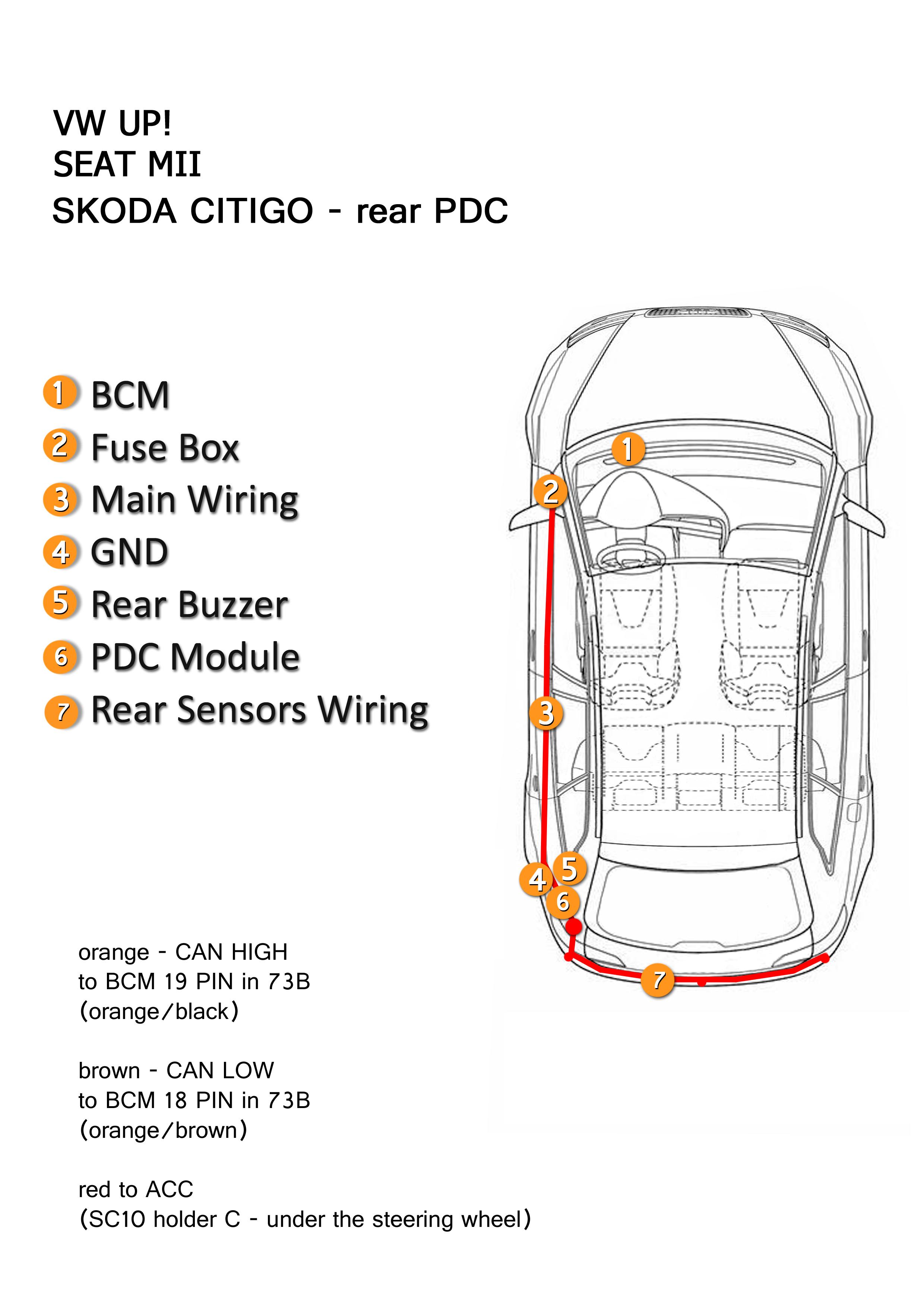 Vw Up Fuse Box Electrical Wiring Diagrams Karmann Ghia Pdc Seat Mii Skoda Citigo